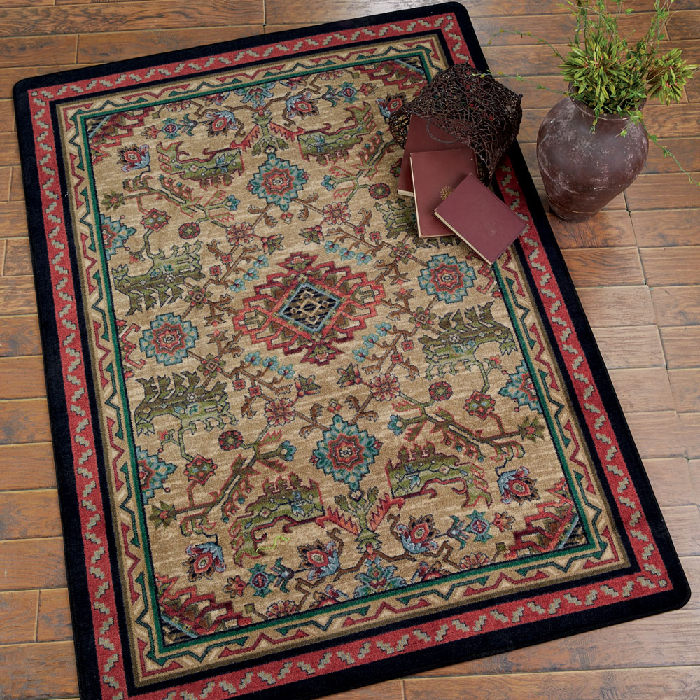 Tribal Echoes Saddle Rug - 11 x 13