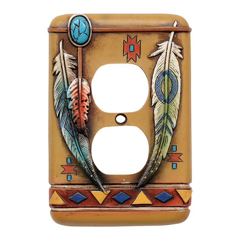 Tribal Feathers Outlet Over - CLEARANCE
