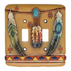 Tribal Feathers Switch Plate Covers