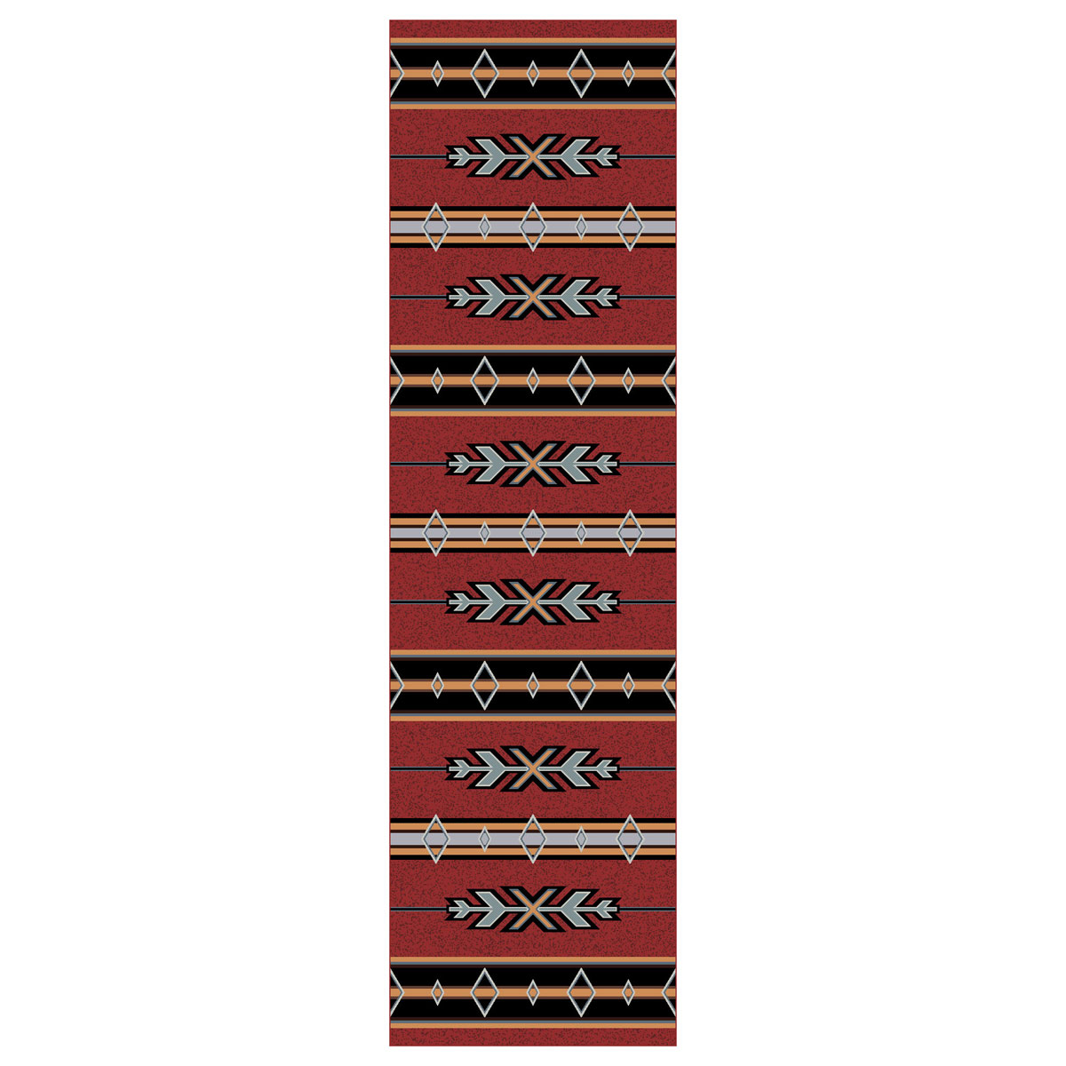 Tribal Fire Rug - 2 x 8