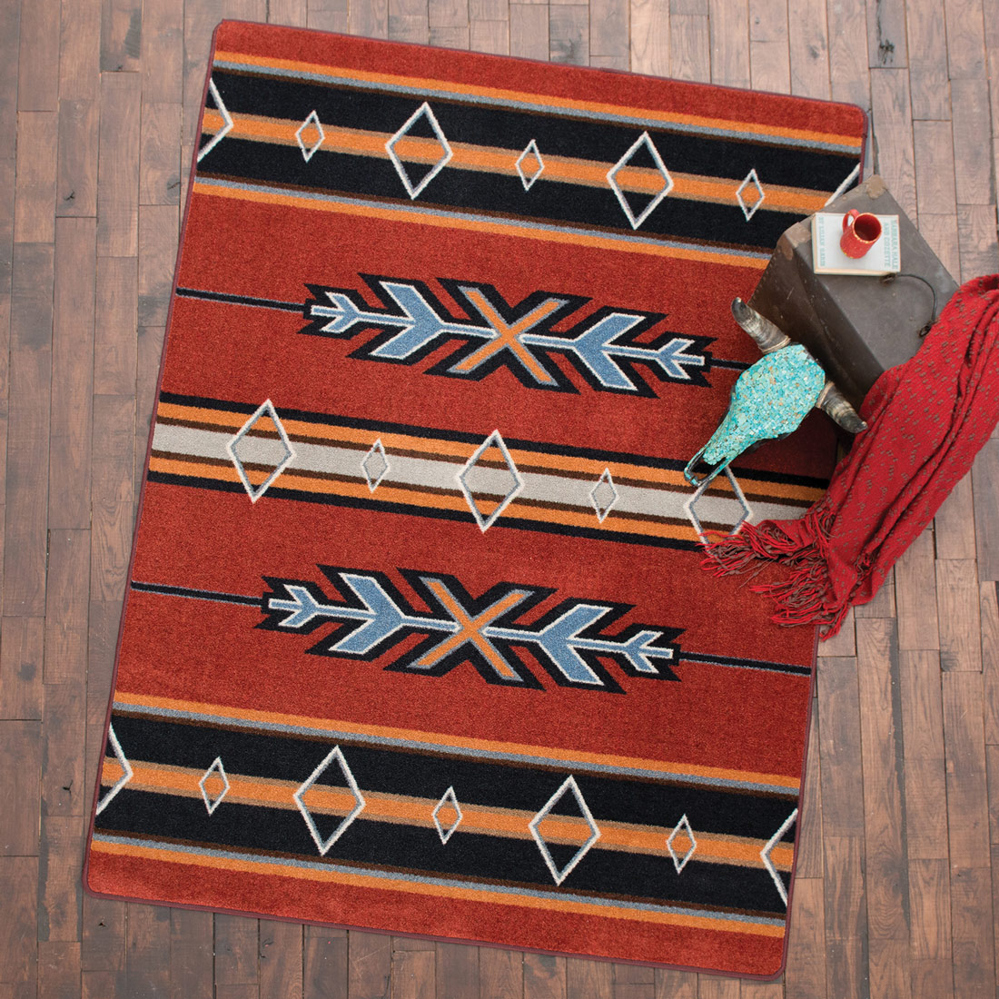Tribal Fire Rug - 3 x 4