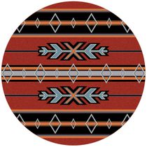 Tribal Fire Rug - 8 Ft. Round