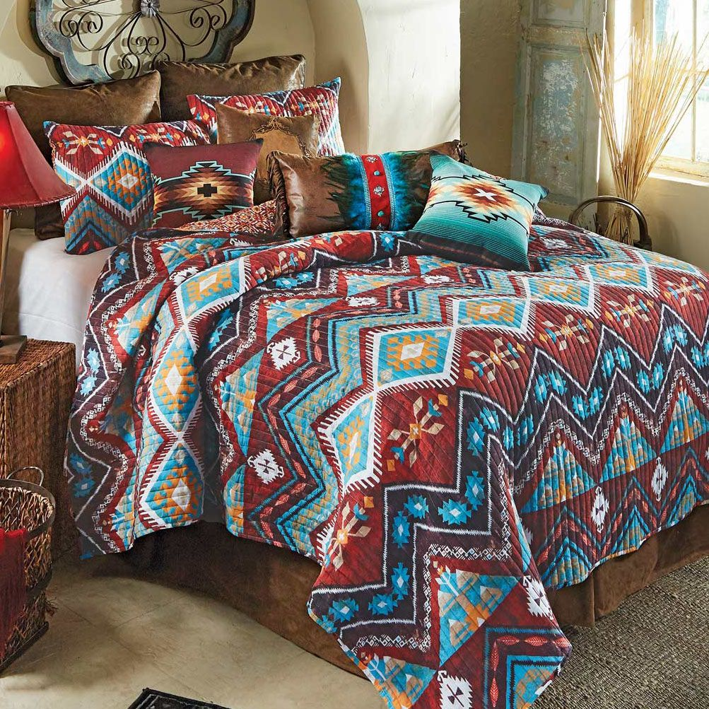 Tribal Horizon Quilt Set - King