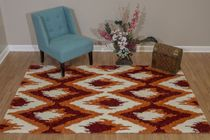 Tribal Ikat Red Rug - 5 x 8
