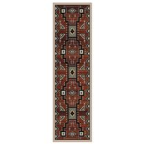Tribal Rain Red Rug - 2 x 8