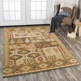 Tribal Tree Gold Rug Collection