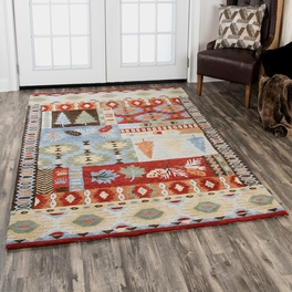 Tribal Tree Red Rug Collection