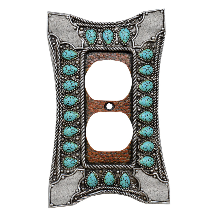Tribal Turquoise Outlet Cover