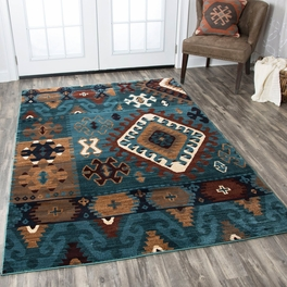 Tribal Turquoise Rug Collection