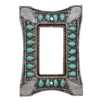 Tribal Turquoise Single Rocker Switch Cover