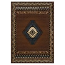 Tucson Brown Rug - 4 x 5