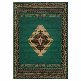 Tucson Green Rug Collection