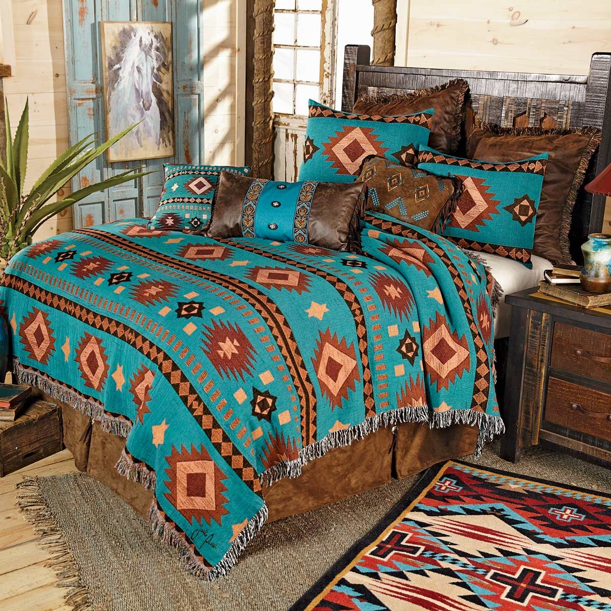 Tucson Sky Tapestry Coverlet - Twin - CLEARANCE