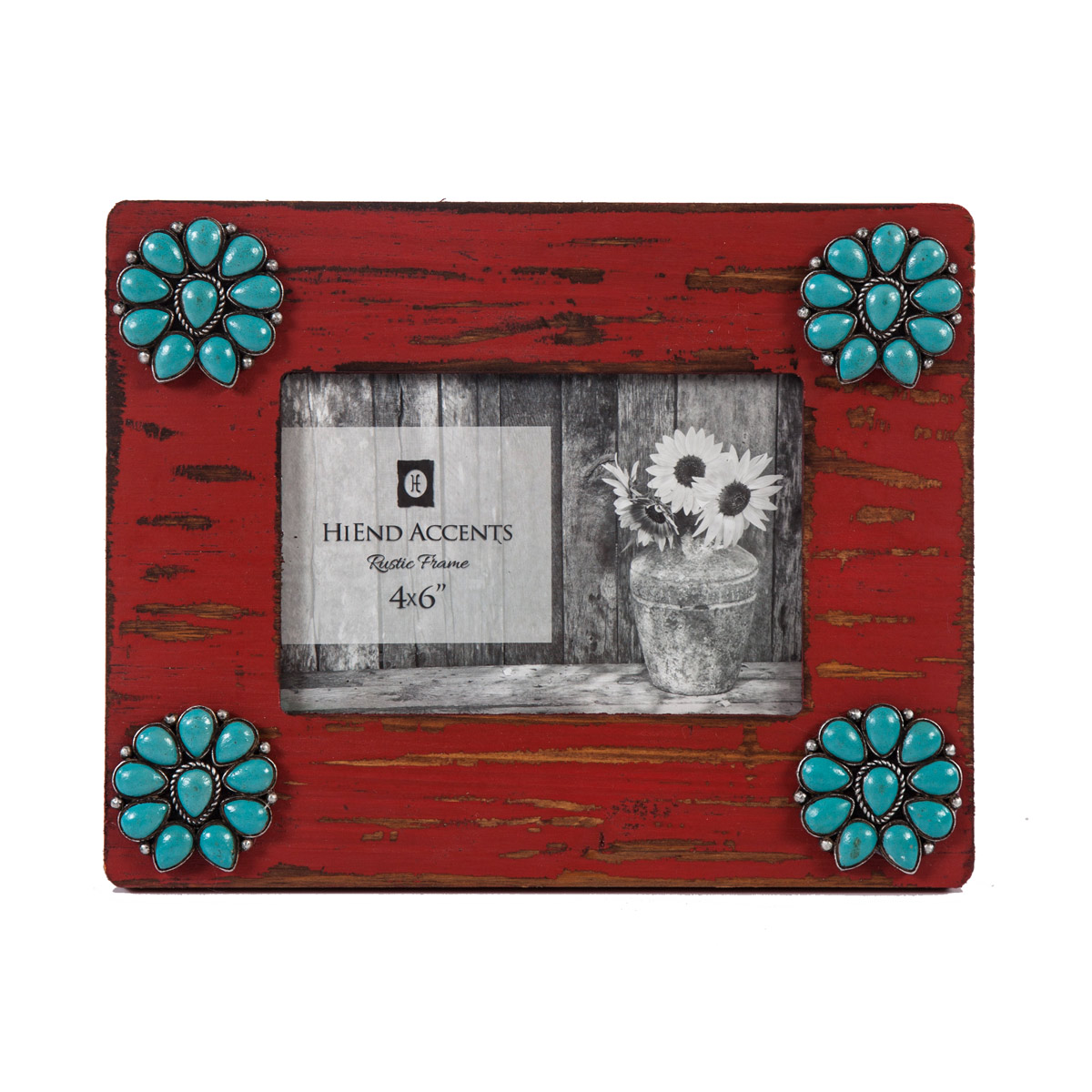 Turquoise Blossom 4 x 6 Photo Frame - BACKORDERED Until 1/5/2022