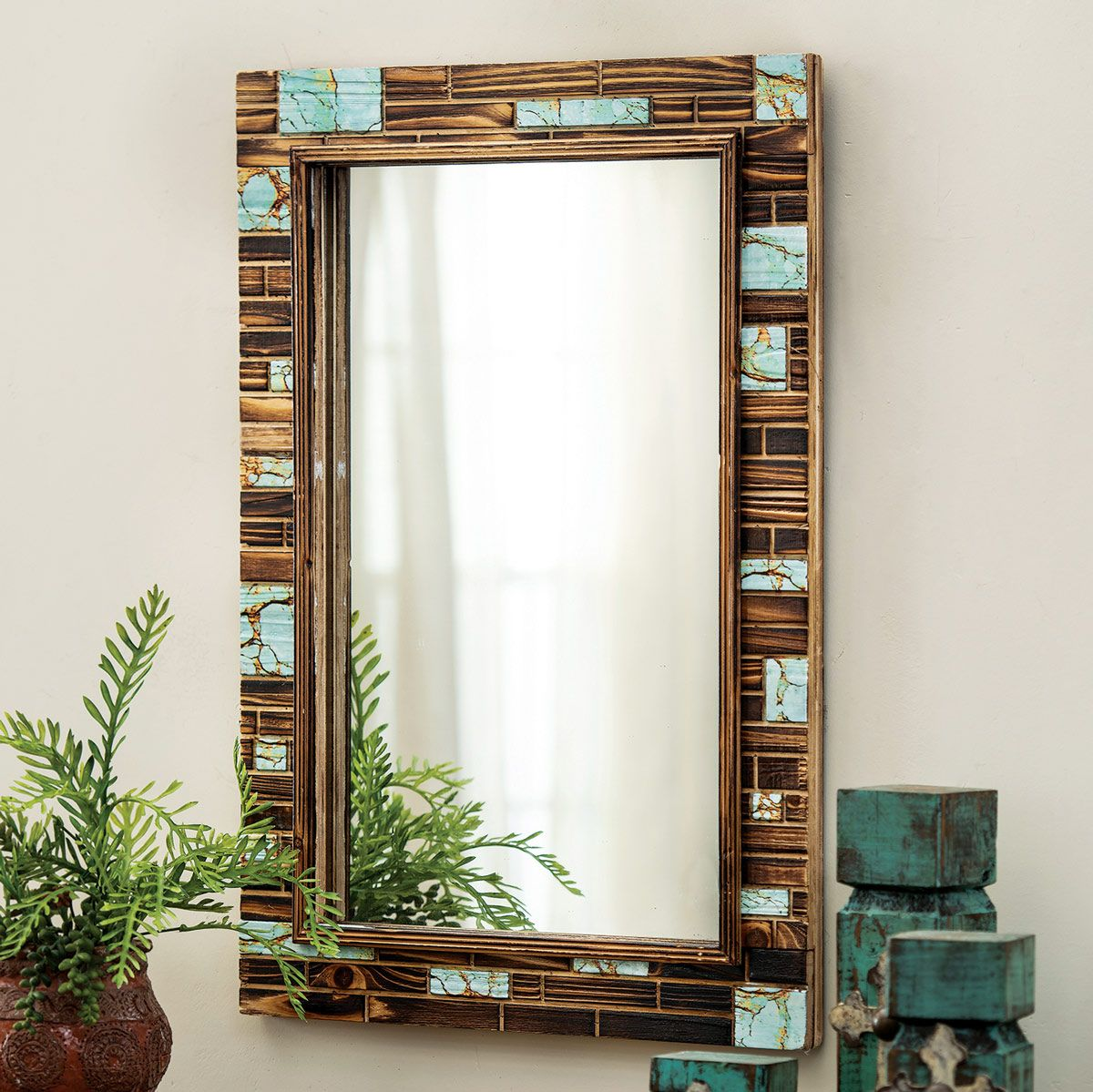 Turquoise Canyon Wall Mirror