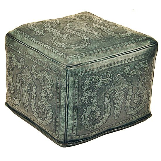 Turquoise Colonial Large Ottoman