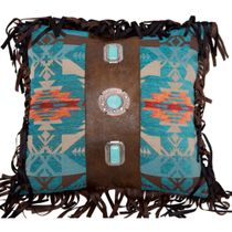 Turquoise Concho Pillow