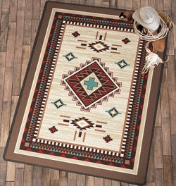 Turquoise Cross Rug Collection