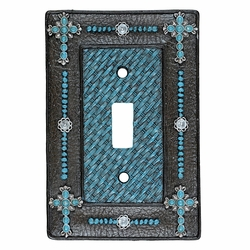 Turquoise Cross & Weave Switch Covers
