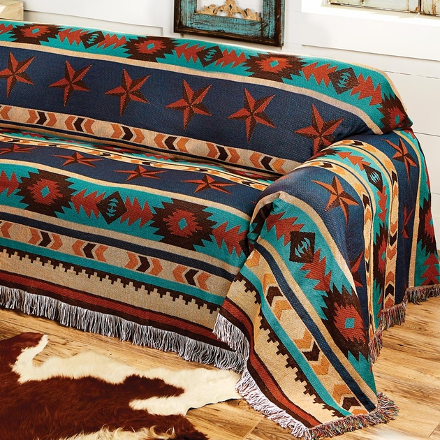 Turquoise Desert Chair Cover
