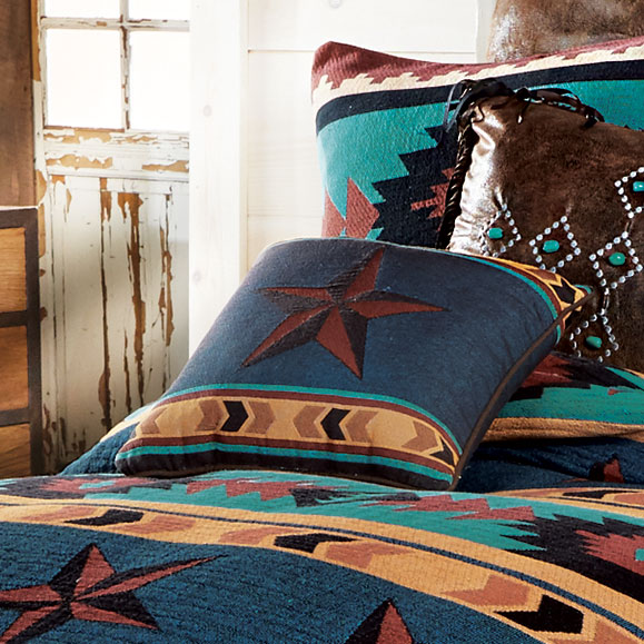 Turquoise Desert Tapestry Accent Pillow
