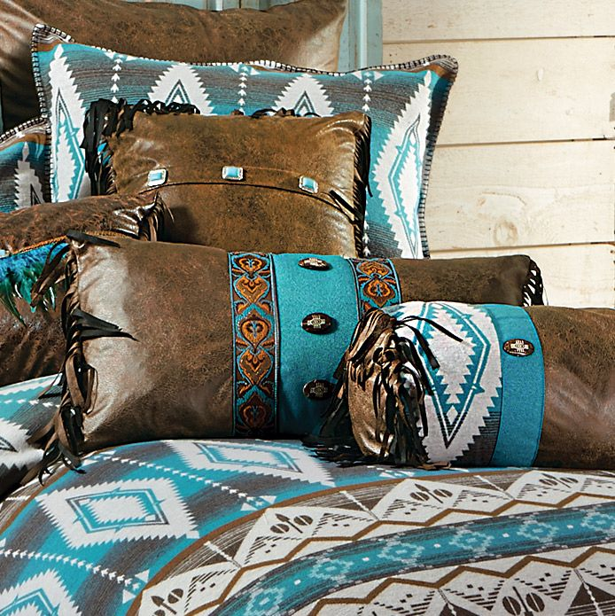 Turquoise Earth Rectangle Pillow