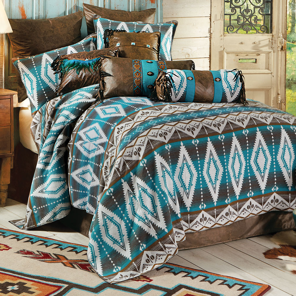 Turquoise Earth Bed Set - King
