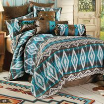 Turquoise Earth Bed Set - Queen