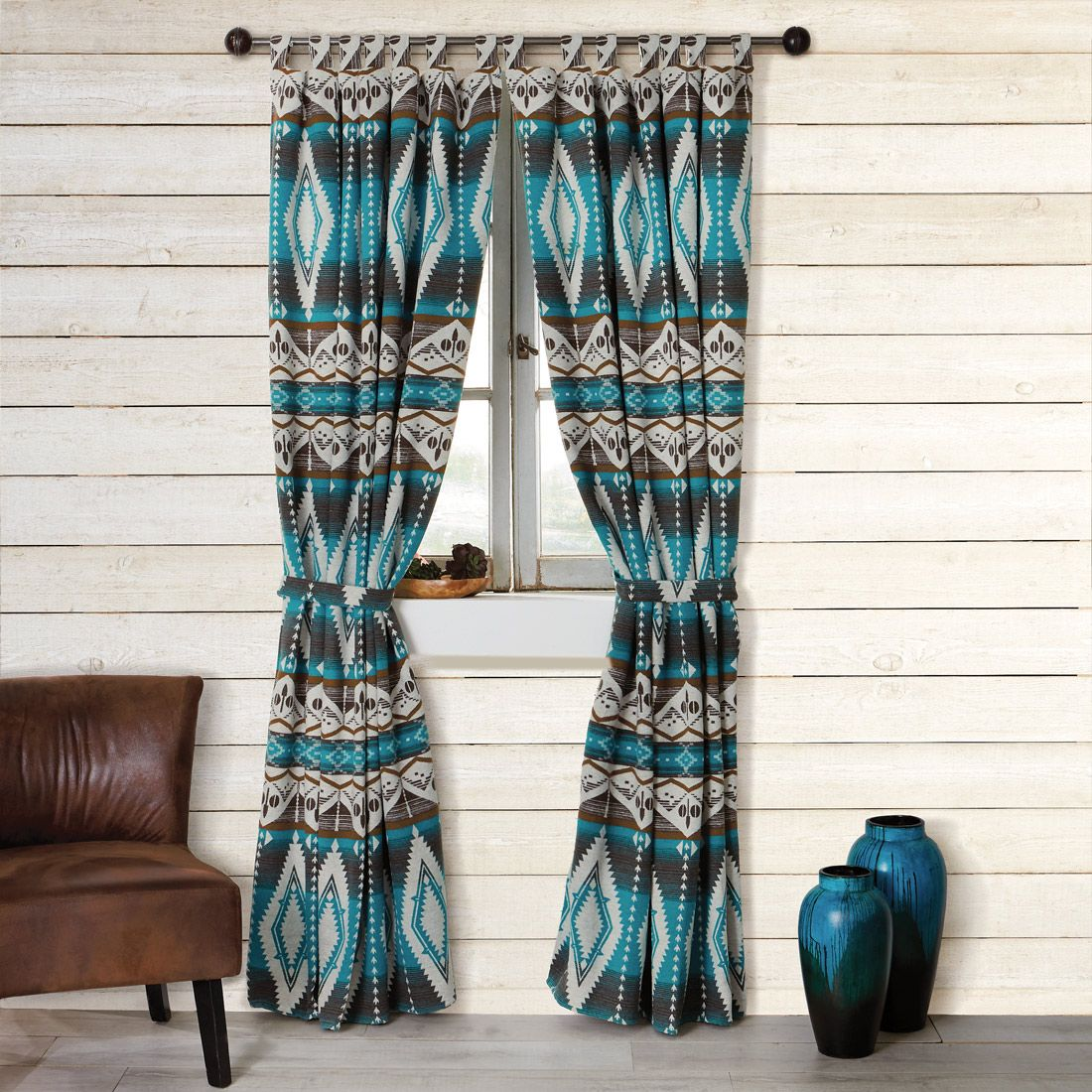 Turquoise Earth Drapes - CLEARANCE