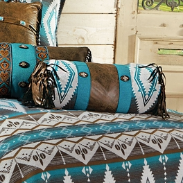 Turquoise Earth Neckroll Pillow - CLEARANCE