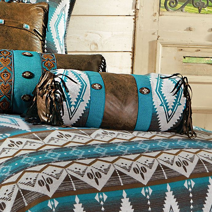 Turquoise Earth Neckroll Pillow