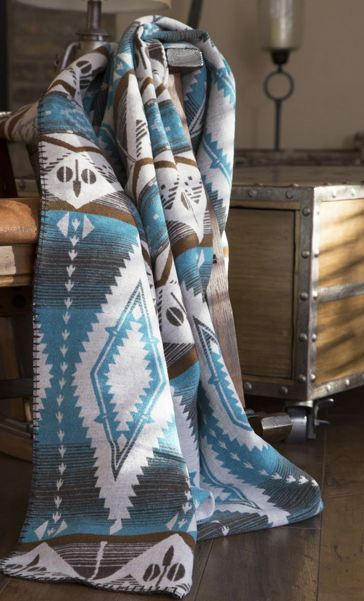 Turquoise Earth Throw