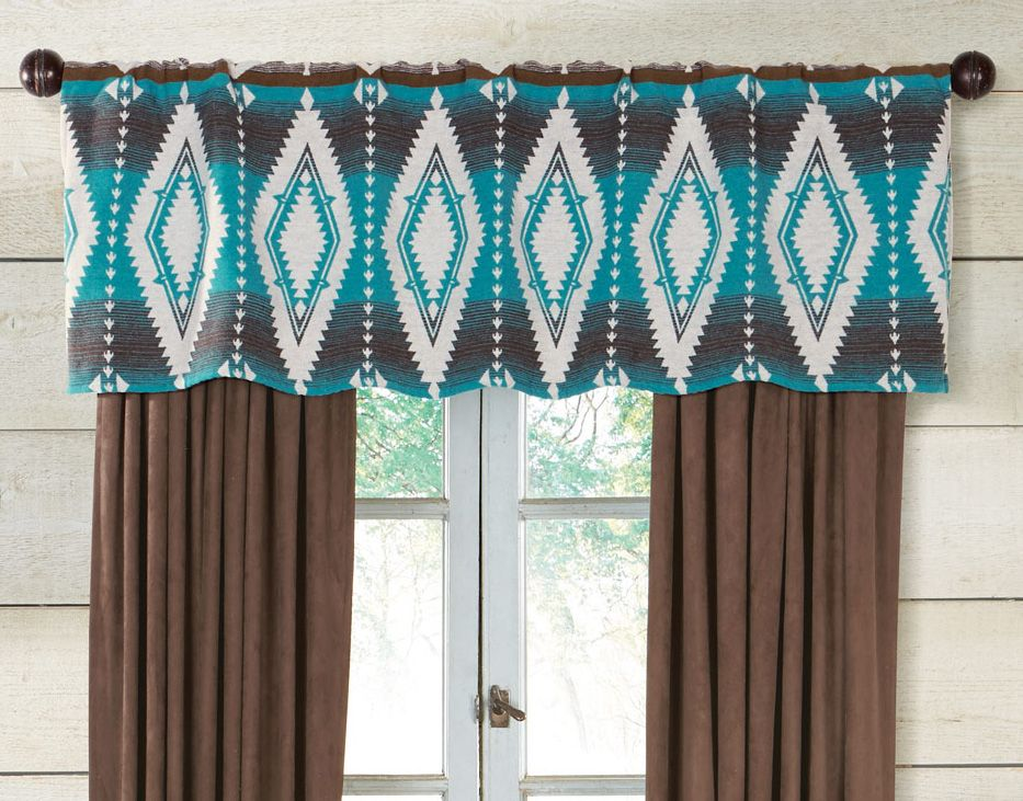 Turquoise Earth Valance
