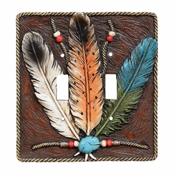Turquoise Feather Switch Covers