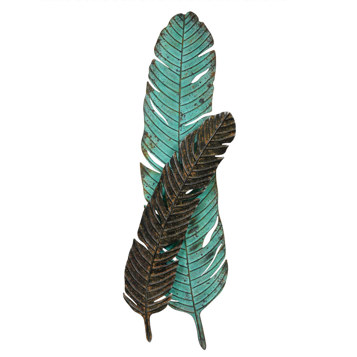 Turquoise Feather Wall Hanging