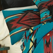 Turquoise Flame Tapestry Standard Sham