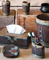 Turquoise Horseshoe and Cross Bath Set (3 pcs)