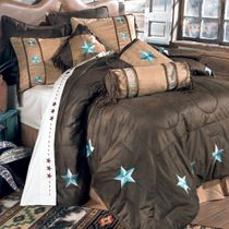 Turquoise Laredo Bed Set - Full