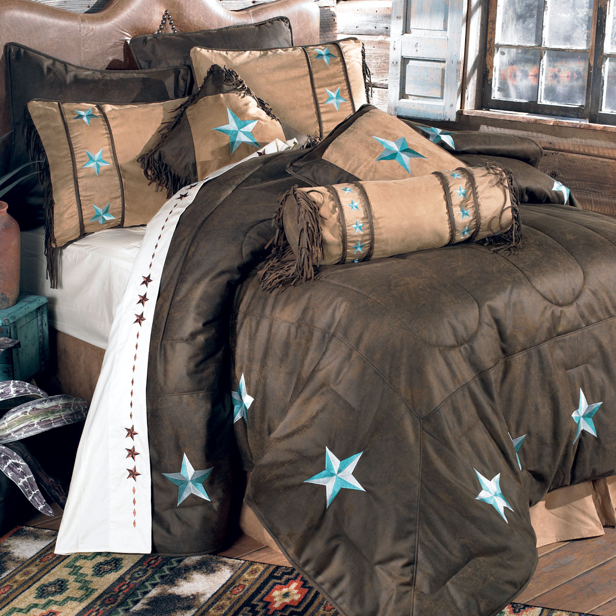 Turquoise Laredo Bed Set - Queen