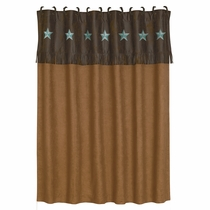 Turquoise Laredo Shower Curtain