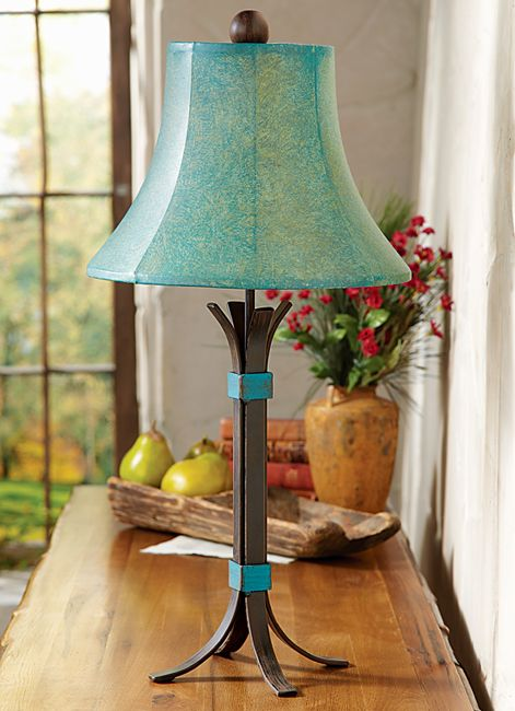 Rustic Lamps Turquoise Rio Table Lamp