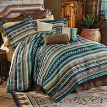 Turquoise River Bed Set - King