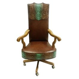 Turquoise River Leather Office Chair - Tall