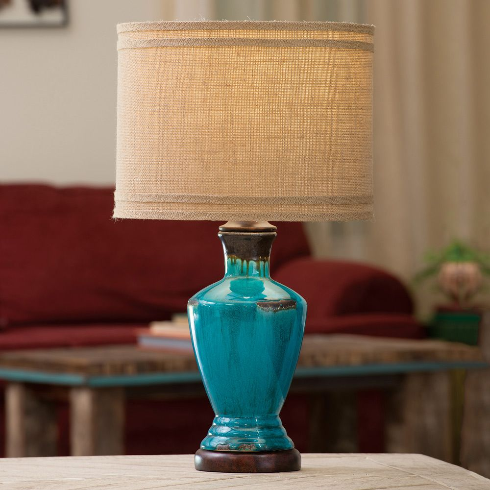Turquoise River Table Lamp
