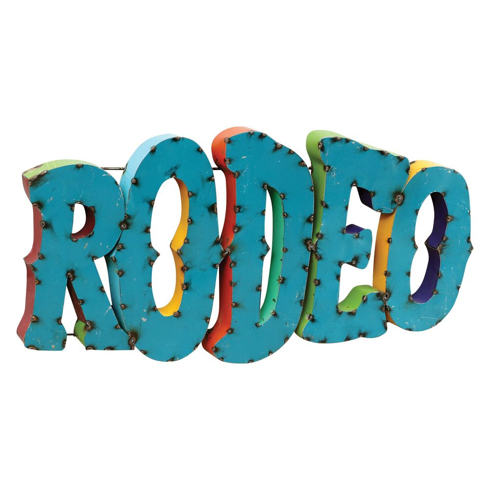 Turquoise Rodeo Sign