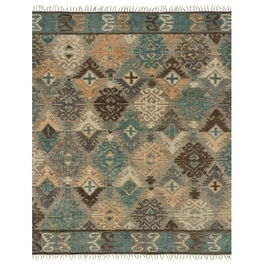 Turquoise Scrolls Rug Collection