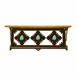 Turquoise Stone Bath Wall Shelf - 20 Inch