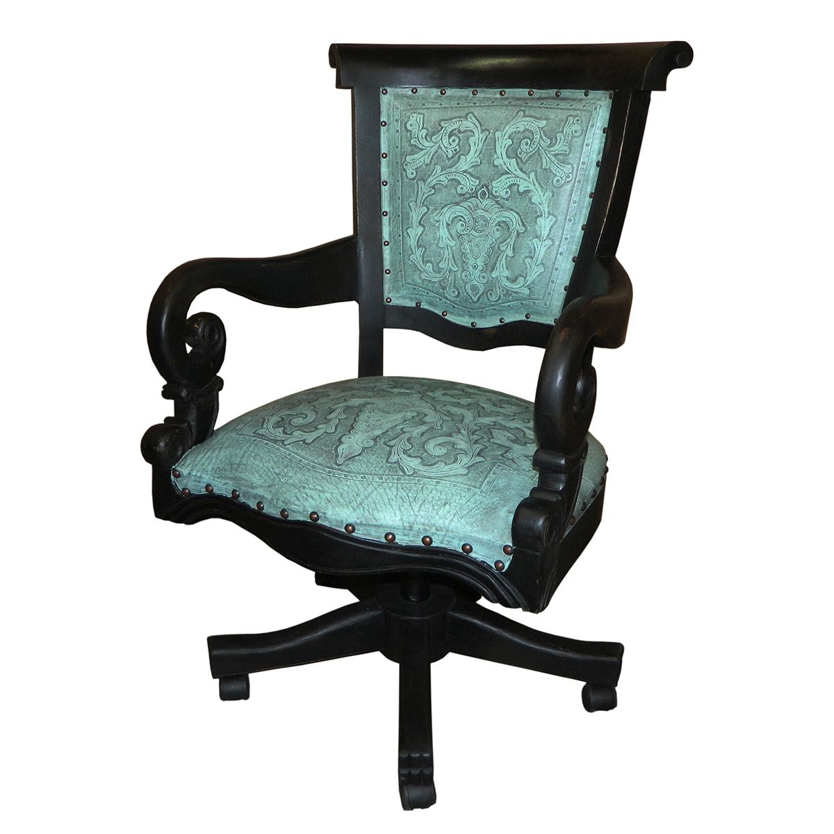 Turquoise Swivel Office Chair