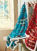 Turquoise Ways Plush Throw