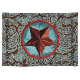 Turquoise Western Star Placemat